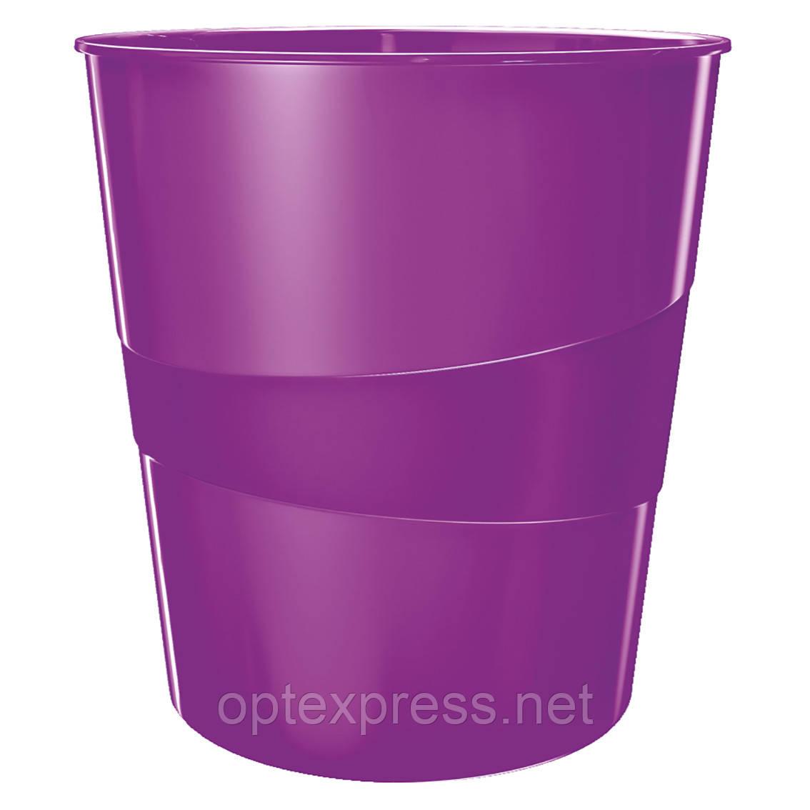 Кошик для сміття Leitz WOW. Фіолетова