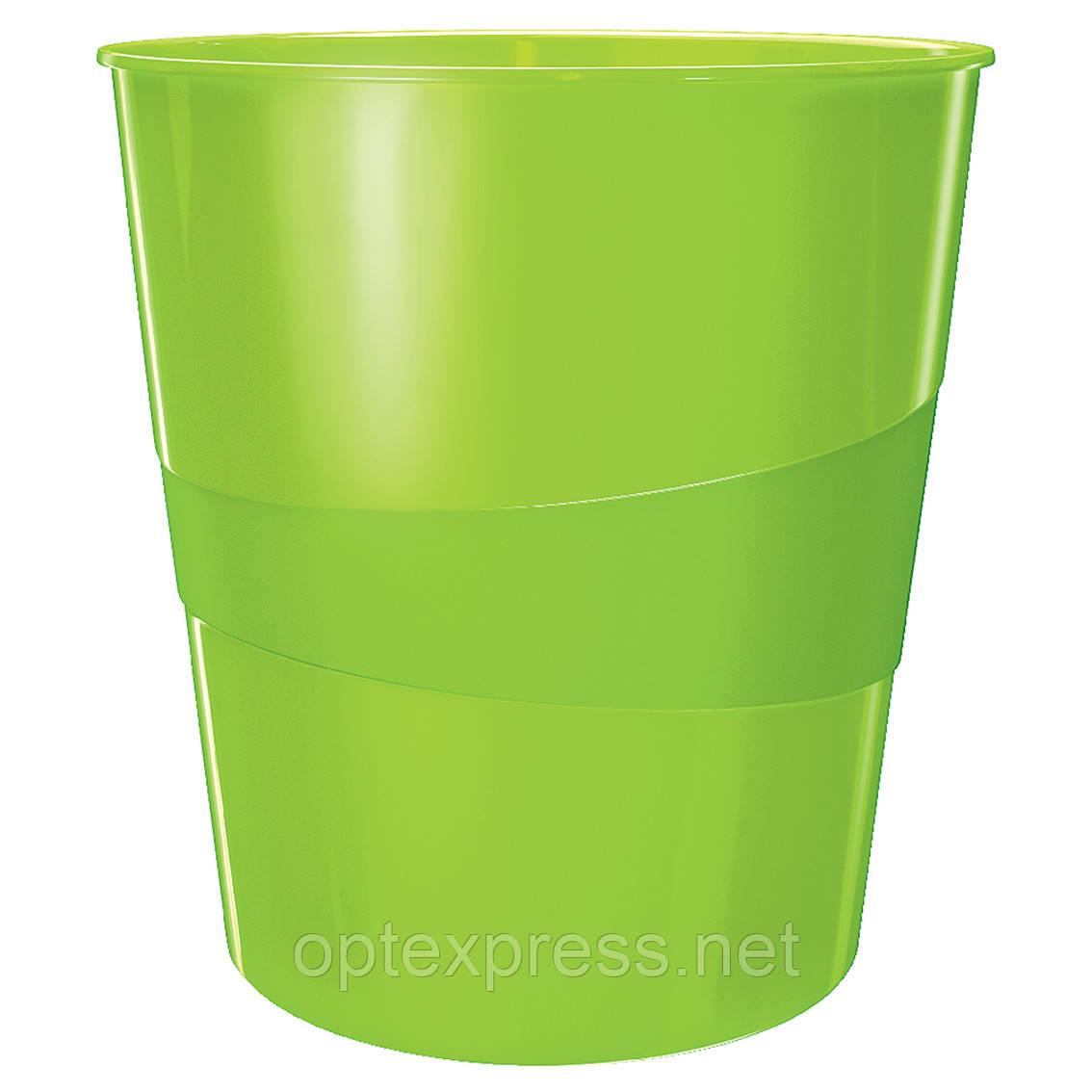 Кошик для сміття Leitz WOW. Зелена