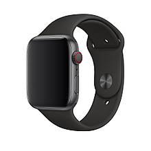Ремешок силиконовый Sport Band 42mm | 44 mm Black для Apple Watch SE | 6 | 5 | 4 | 3 | 2 | 1