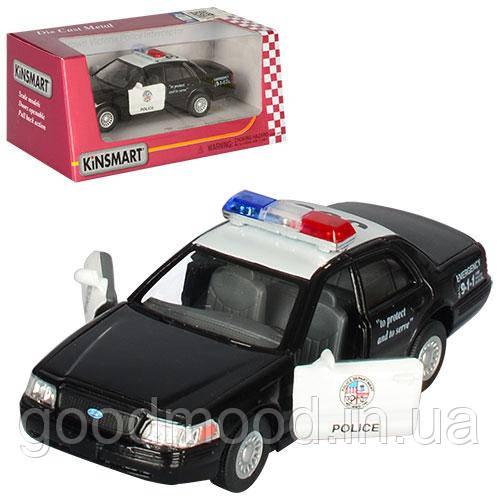 Машинка KT 5327 W мет., інерц., поліція, відчин. двері, гумові колеса, кор., 16-7-8 див.