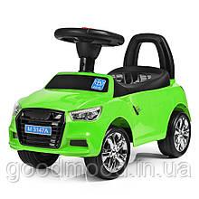 Каталка-толокар M 3147A (MP3)-5 багажник під сидінням, муз., бат., зелений, 63,5-37-29 див.