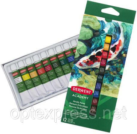 Наборы акриловых красок Derwent Academy™ Soft Pastels.
