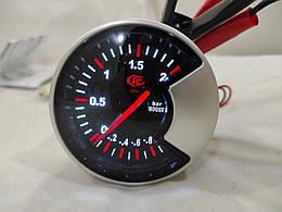 Прибор указатель давления турбины Ket Gauge Led 602707 стрелочный Ø60мм датчик автомобильный