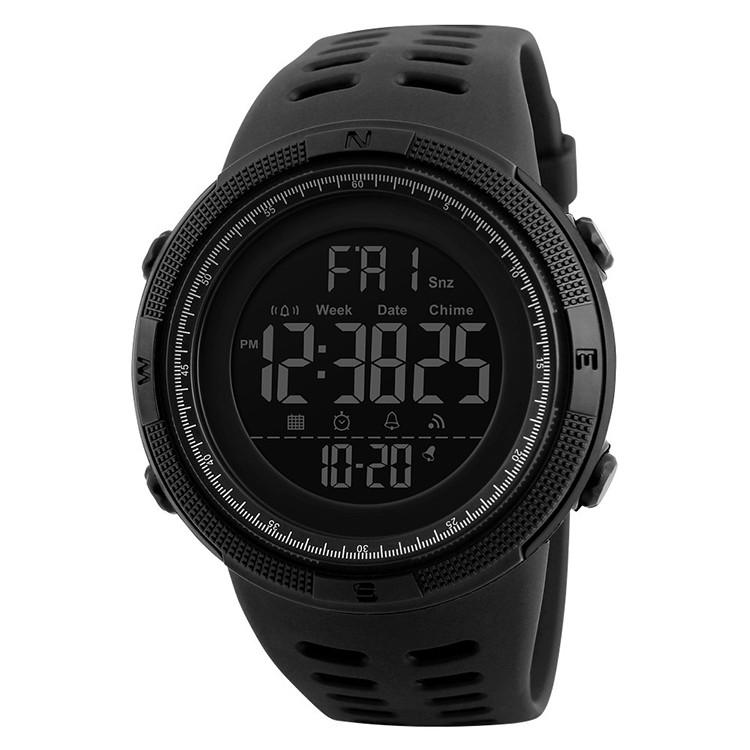 Skmei 1251 Amigo (2) чорні чоловічі спортивні годинник