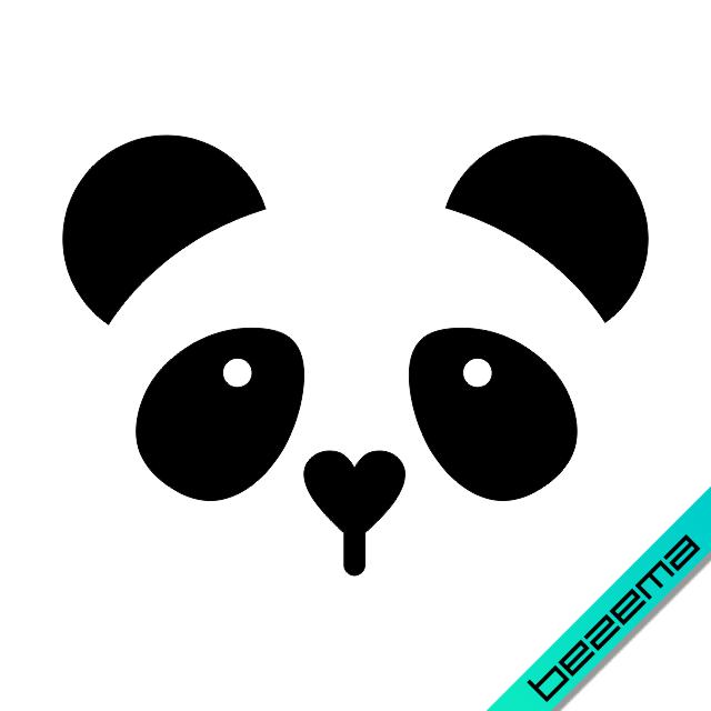 Наклейки на верхнюю одежду Панда [Свой размер и материалы в ассортименте]