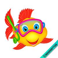 Аплпикации на рюкзаки Рибка [Свій розмір і матеріали в асортименті]