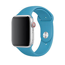 Ремешок силиконовый Sport Band 42mm | 44 mm Blue для Apple Watch SE | 6 | 5 | 4 | 3 | 2 | 1