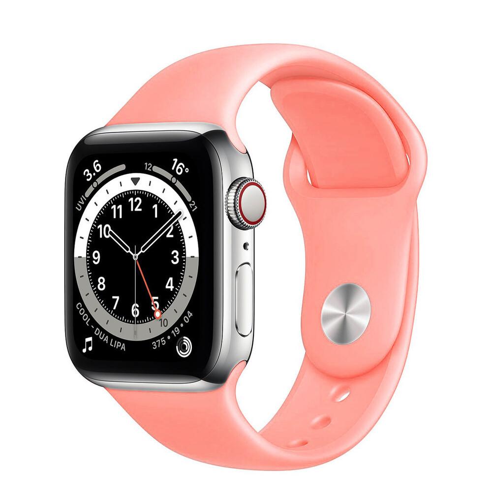 Ремешок силиконовый Sport Band 42mm   44 mm Pink для Apple Watch SE   6   5   4   3   2   1