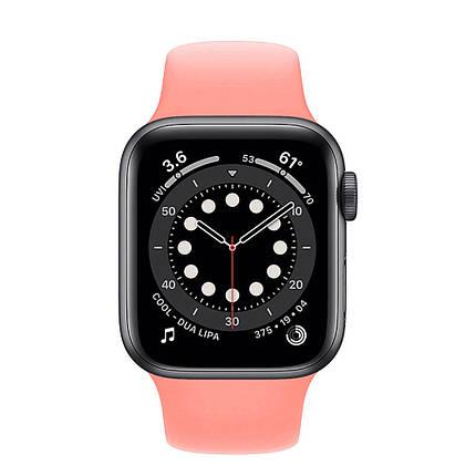 Ремешок силиконовый Sport Band 42mm   44 mm Pink для Apple Watch SE   6   5   4   3   2   1, фото 2