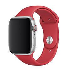 Ремешок силиконовый Sport Band 42mm | 44 mm Red для Apple Watch SE | 6 | 5 | 4 | 3 | 2 | 1