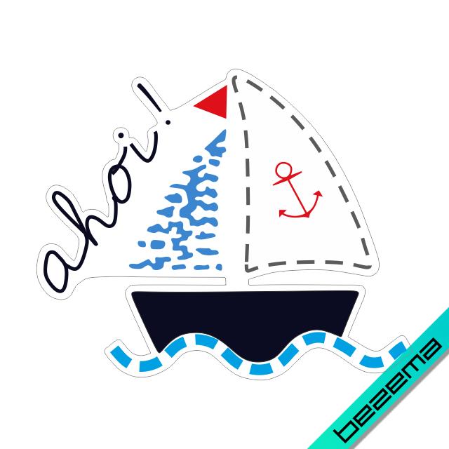Наклейки на жилеты Кораблик [Свой размер и материалы в ассортименте]