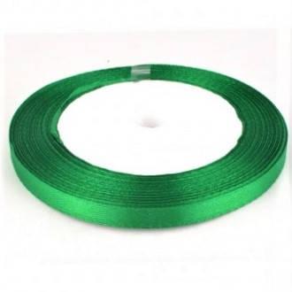 Лента атласная 6мм, зеленая
