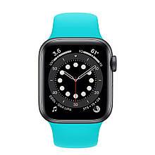 Ремешок силиконовый Sport Band 42mm | 44 mm Sea Blue для Apple Watch SE | 6 | 5 | 4 | 3 | 2 | 1