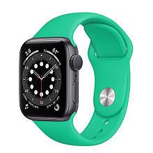 Ремешок силиконовый Sport Band 42mm | 44 mm Spearmint для Apple Watch SE | 6 | 5 | 4 | 3 | 2 | 1