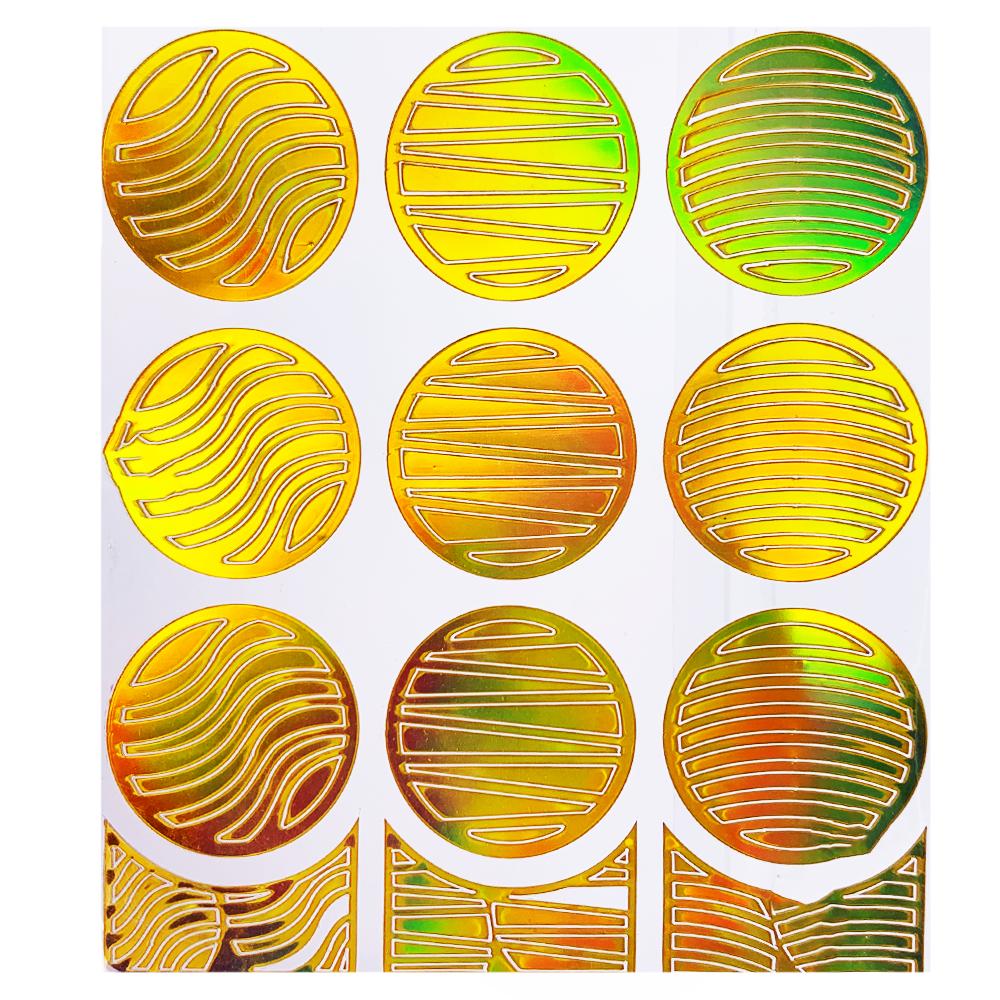 Трафарет для дизайна голограмма золото L-004