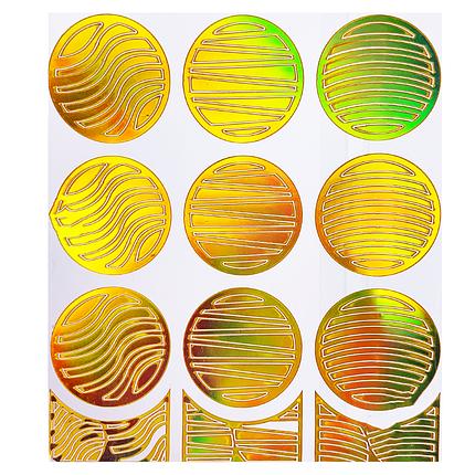 Трафарет для дизайна голограмма золото L-004, фото 2
