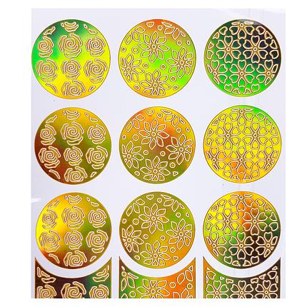 Трафарет для дизайна голограмма золото L-001, фото 2