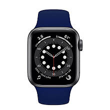 Ремешок силиконовый Sport Band 42mm | 44 mm Dark Blue для Apple Watch SE | 6 | 5 | 4 | 3 | 2 | 1