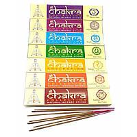 Набор аромапалочек Chakra Collection (7 Чакр) (набор 7 пачек по 15 грамм) пыльцевые благовония