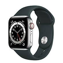 Ремешок силиконовый Sport Band 42mm | 44 mm Charcoal для Apple Watch SE | 6 | 5 | 4 | 3 | 2 | 1