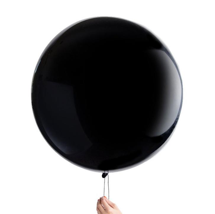 """Воздушный надувной шар пастель черный 19"""" (48 см) Gemar 150-014 1976"""