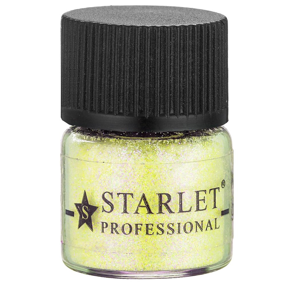 Микроблестки песок Starlet Professional SP-002, лимонные