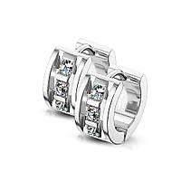 Серьги-кольца из стали Spikes SE3522