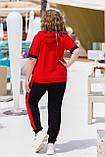 Літній спортивний костюм жіночий Турецька двунітка Розмір 50 52 54 56 58 60 62 64 В наявності 3 кольори, фото 8