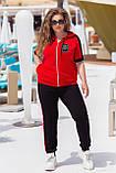 Літній спортивний костюм жіночий Турецька двунітка Розмір 50 52 54 56 58 60 62 64 В наявності 3 кольори, фото 6