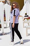 Літній спортивний костюм жіночий Турецька двунітка Розмір 50 52 54 56 58 60 62 64 В наявності 3 кольори, фото 5