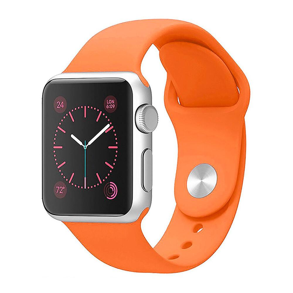 Ремінець силіконовий Sport Band 38mm | 40mm Orange для Apple Watch SE | 6 | 5 | 4 | 3 | 2 | 1