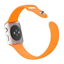 Ремінець силіконовий Sport Band 38mm | 40mm Orange для Apple Watch SE | 6 | 5 | 4 | 3 | 2 | 1, фото 2