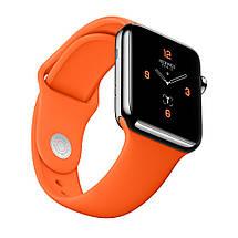 Ремінець силіконовий Sport Band 38mm | 40mm Orange для Apple Watch SE | 6 | 5 | 4 | 3 | 2 | 1, фото 3