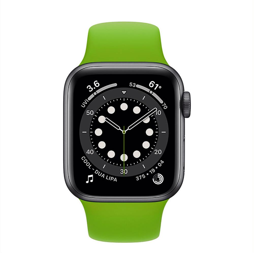 Силіконовий ремінець Sport Band 42mm   44 mm Grass Green Apple Watch SE  6   5   4   3   2   1