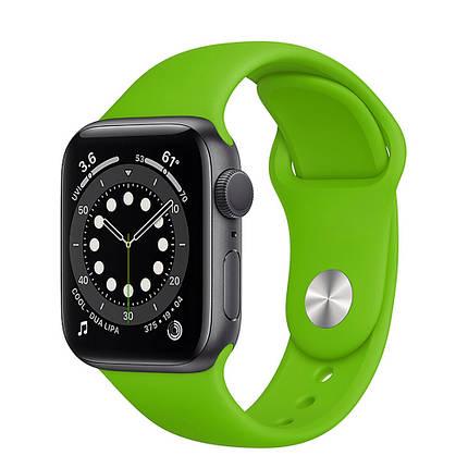 Силіконовий ремінець Sport Band 42mm   44 mm Grass Green Apple Watch SE  6   5   4   3   2   1, фото 2