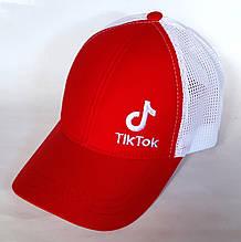 Кепка бейсболка Fashion сітка (54 см), червоно-біла