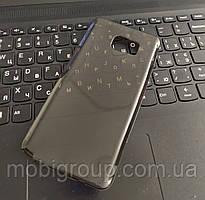 Чехол силиконовый прозрачный для Samsung Note 5, 0.5mm, Черный