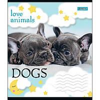 Зошит 24 лінія LOVE ANIMALS 1Вересня (20/320)