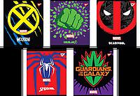"Зошит 12 лінія ""Marvel. Hero shields"" неон+софт-тач Yes"
