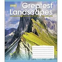 Зошит 36 клітинка GREATEST LANDSCAPES мікс 4 обкладинки 1Вересня (15/240)
