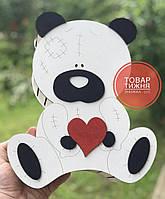 Деревянная коробка для подарков Мишка Тедди