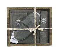 Мужской комплект для бани purry (юбка, полотенце 50*90, тапочки) хаки #S/H