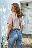 Рубашка летняя брендовая Seventeen короткая с завязками (3 цвета, р.S-M,L-XL), фото 4