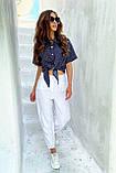 Рубашка летняя брендовая Seventeen короткая с завязками (3 цвета, р.S-M,L-XL), фото 5