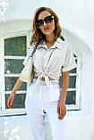 Рубашка летняя брендовая Seventeen короткая с завязками (3 цвета, р.S-M,L-XL), фото 8