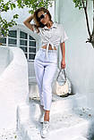 Рубашка летняя брендовая Seventeen короткая с завязками (3 цвета, р.S-M,L-XL), фото 9