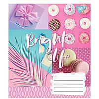 Зошит 36 клітинка BRIGHT LIFE мікс 4 обкладинки Yes (15/240)