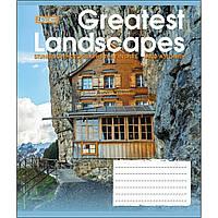 Зошит 24 лінія GREATEST LANDSCAPES мікс 4 обкладинки 1Вересня (20/320)