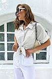 Рубашка летняя брендовая Seventeen короткая с завязками (3 цвета, р.S-M,L-XL), фото 10
