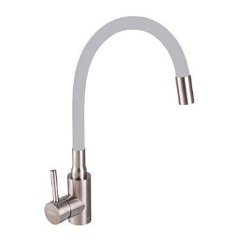 Змішувач для кухні 011 нержавійка REFL Grey HB3890 SUS HAIBA